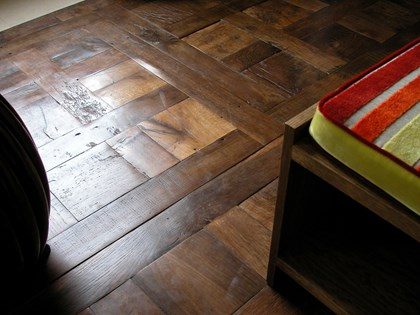 Wooden flooring, Original Face, Antique Oak Chantilly Panels detail
