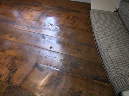 Wooden Flooring, Original Face, Antique Oak Random Width Planks
