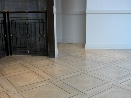 Wooden flooring, Bespoke Design Parquet Panels in Oak and Wenge