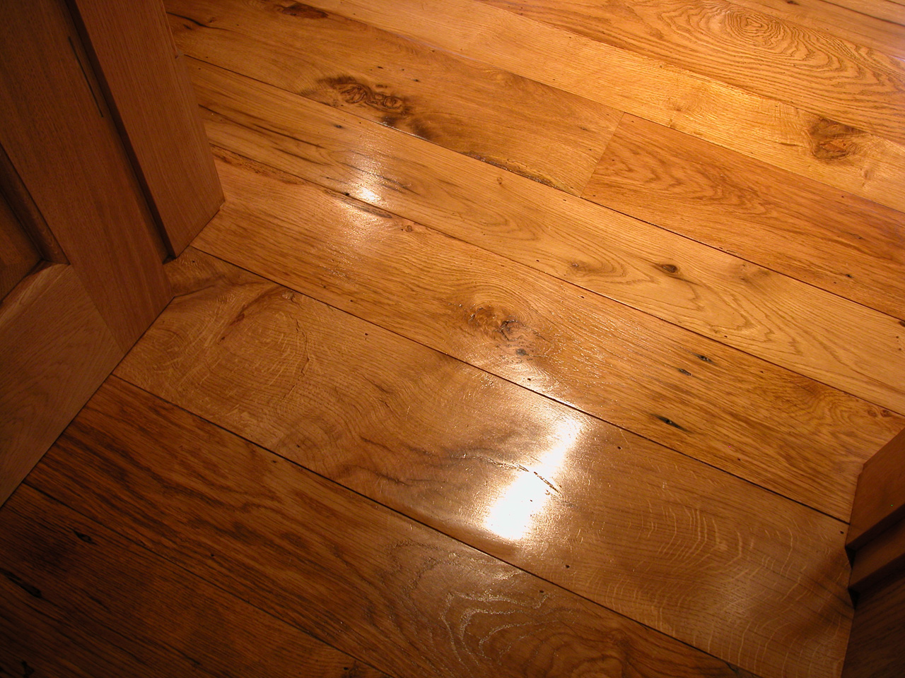 Wooden flooring, Handshaped Reclaimed Oak Planks